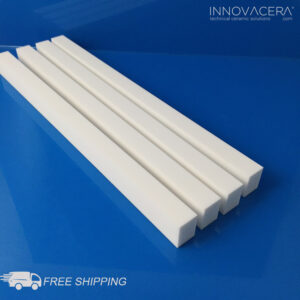INNOVACERA® Machinable Ceramic Square Bar, Length 12 Inches (305mm)